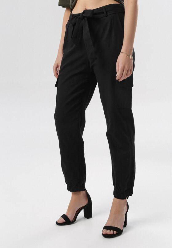 Czarne Spodnie Cargo Nysadella