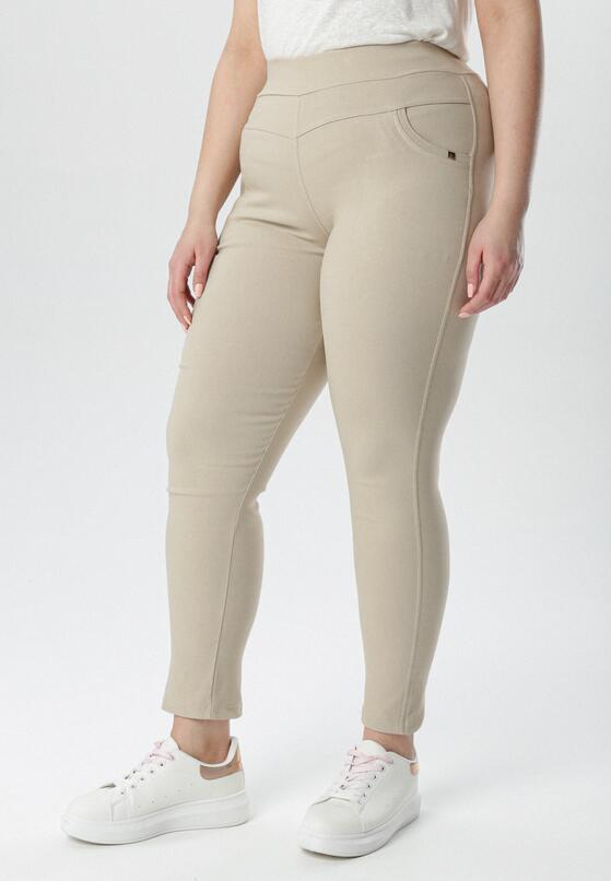 Jasnobeżowe Spodnie Jegginsy Ianathe