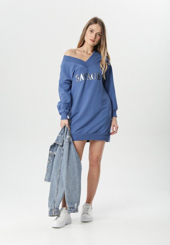 Niebieska Sukienka Adrielure