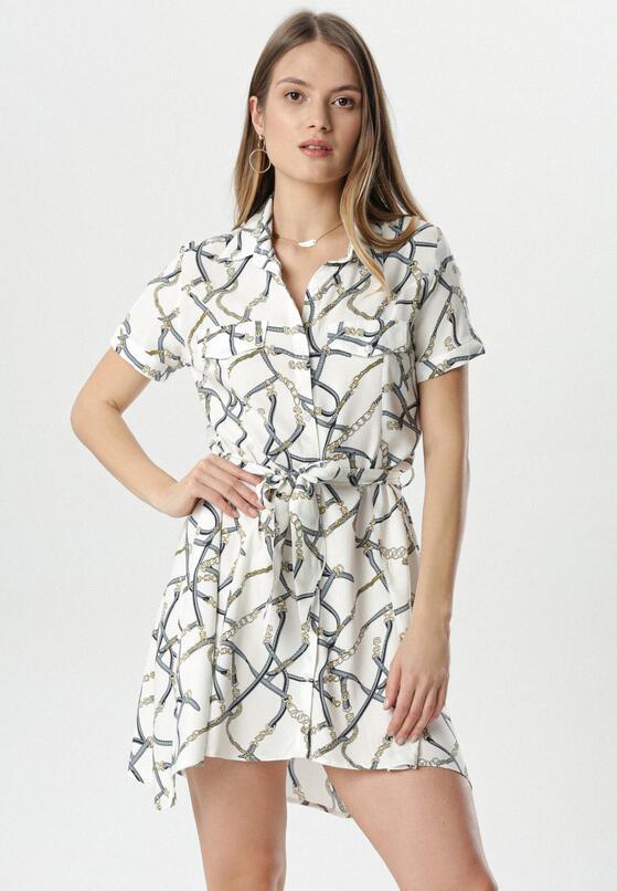 Biało-Niebieska Sukienka Savalophi