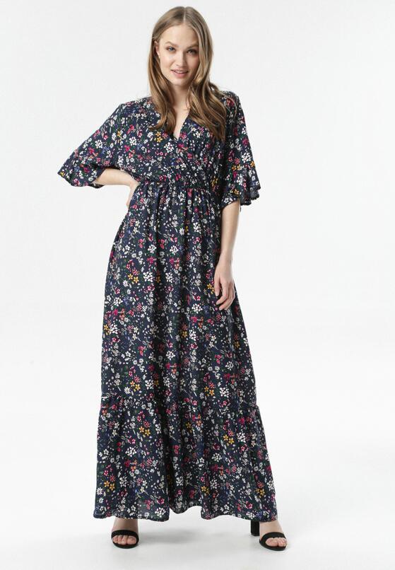 Granatowa Sukienka Menidora
