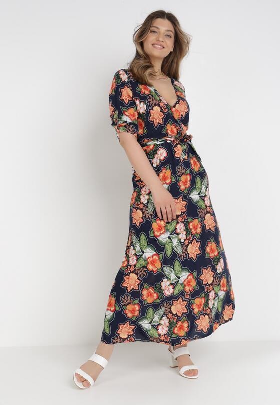 Granatowa Sukienka Oriel
