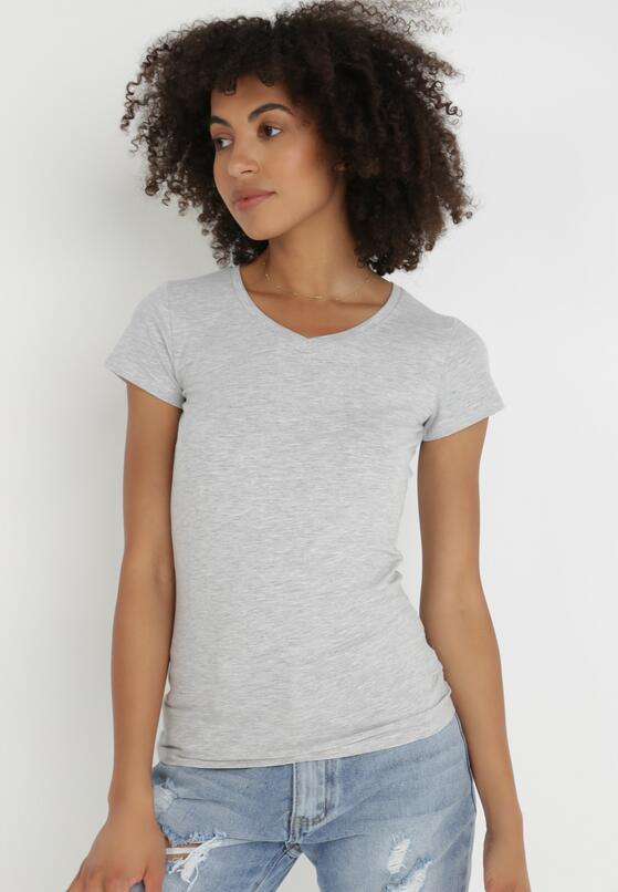 Jasnoszary T-shirt Nysalphia