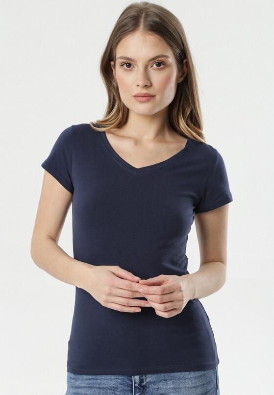 Granatowy T-shirt Nysalphia