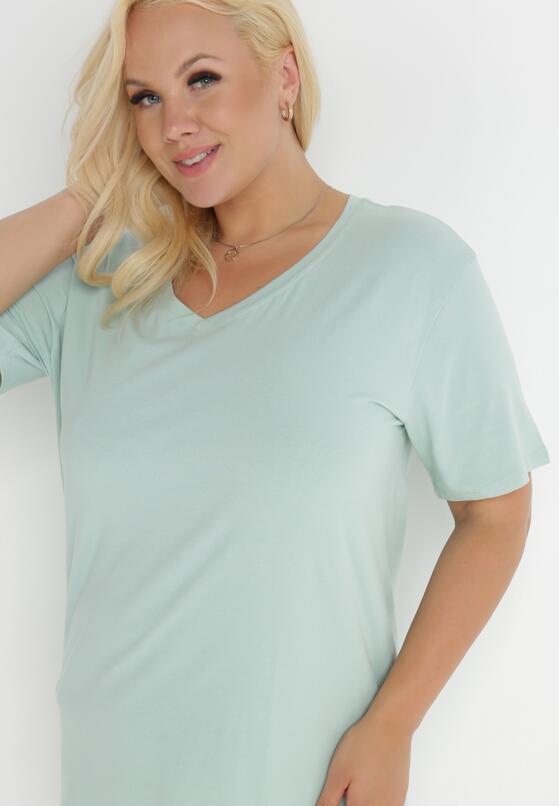 Miętowy T-shirt Genilin