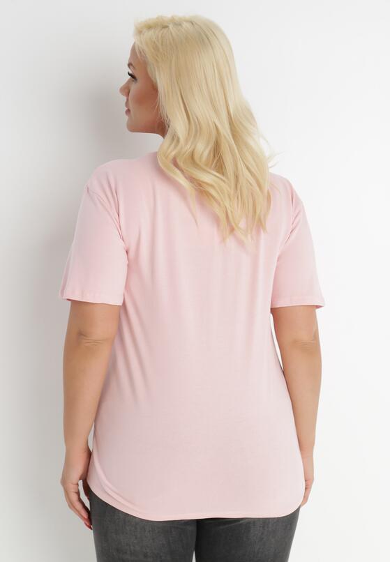 Jasnoróżowy T-shirt Genilin