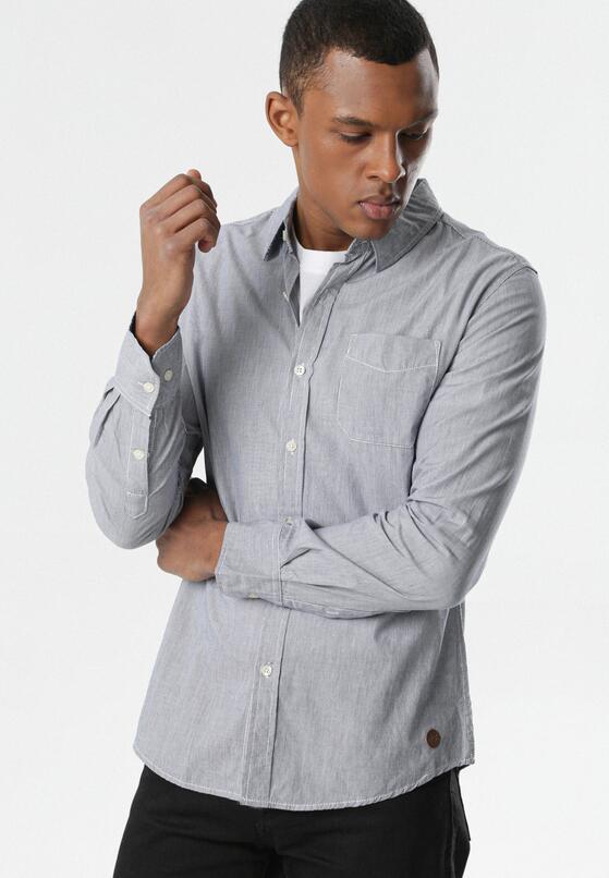 Granatowo-Biała Koszula Allulora