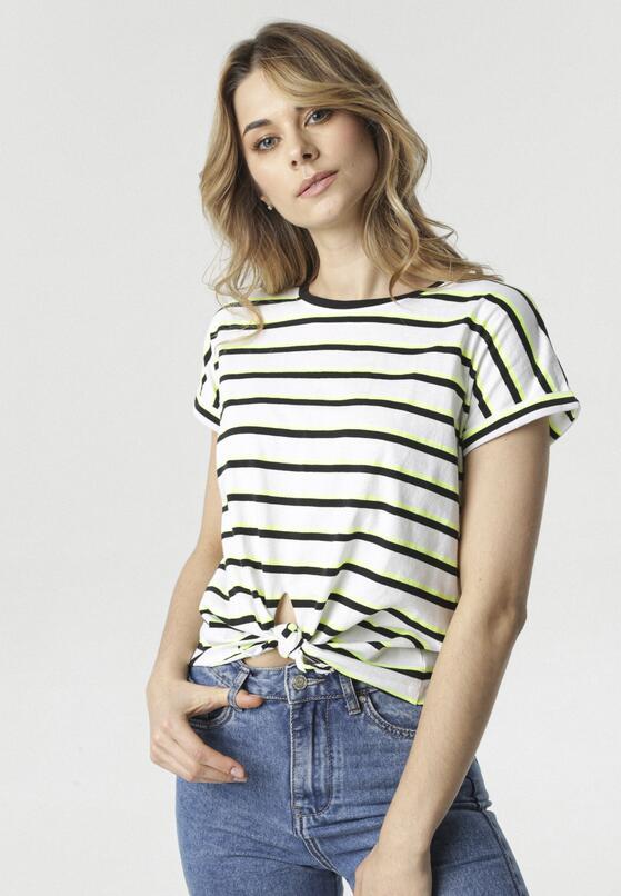 Biało-Czarny T-shirt Tanianea