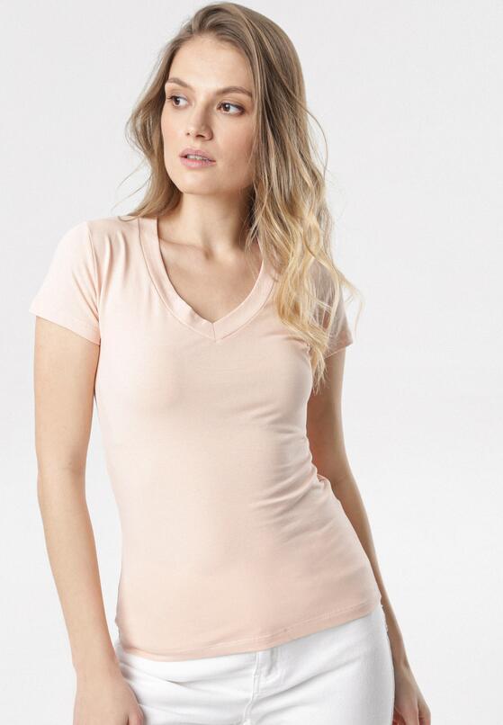 Jasnoróżowy T-shirt Aegameda
