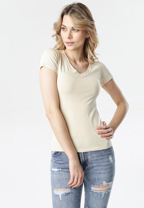 Jasnobeżowy T-shirt Aegameda