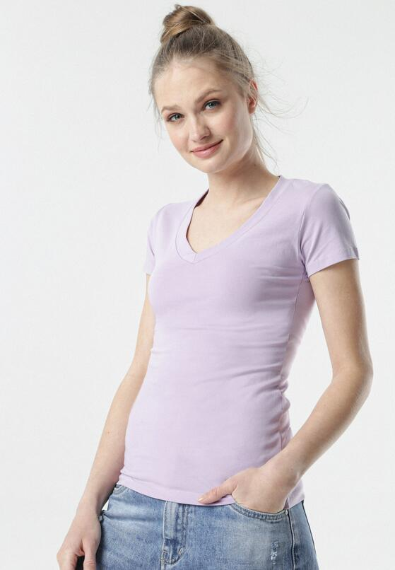 Jasnofioletowy T-shirt Aegameda
