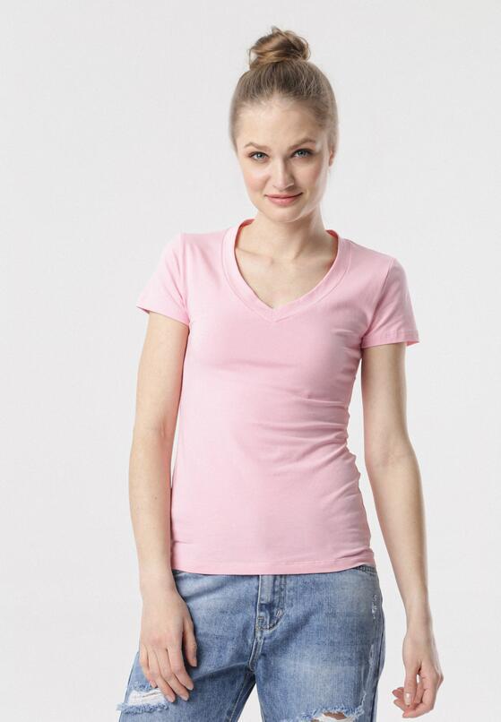 Ciemnoróżowy T-shirt Aegameda