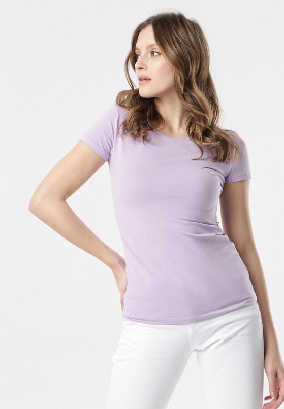Jasnofioletowy T-shirt Echolaira