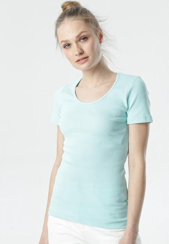 Jasnoniebieski T-shirt Ananore