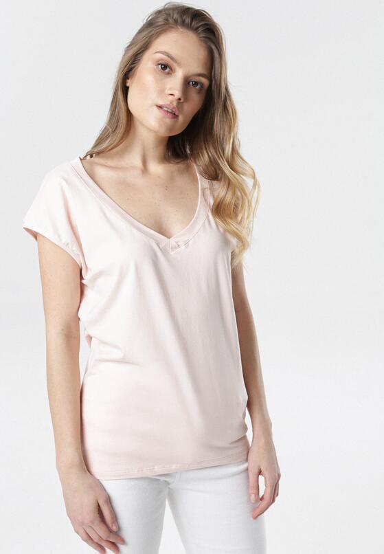 Jasnoróżowy T-shirt Luaphis