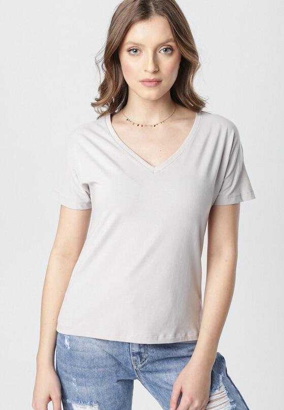 Szary T-shirt Wrafdiff