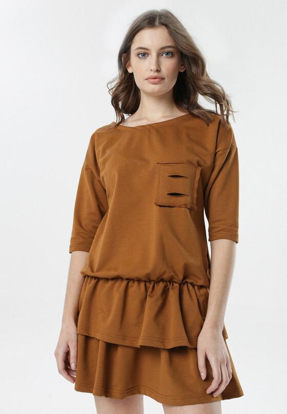 Camelowa Sukienka Lorene