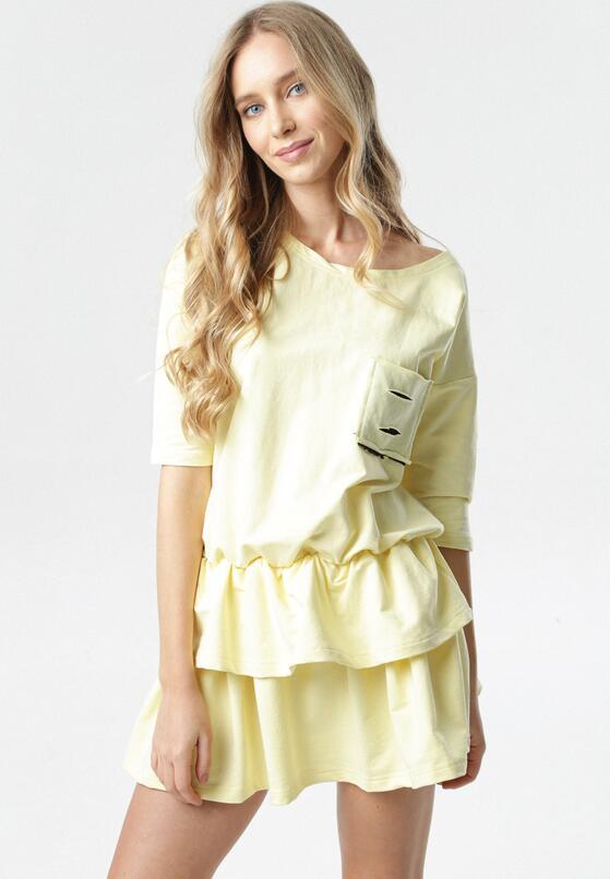 Jasnożółta Sukienka Lorene