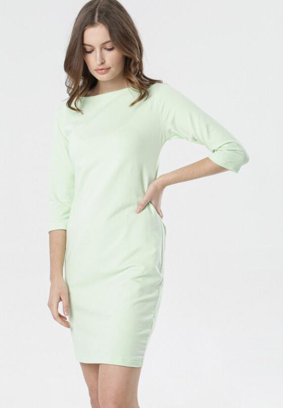 Limonkowa Sukienka Eleynard