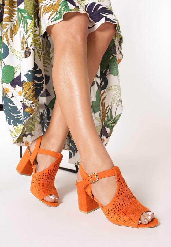 Pomarańczowe Sandały Hidia