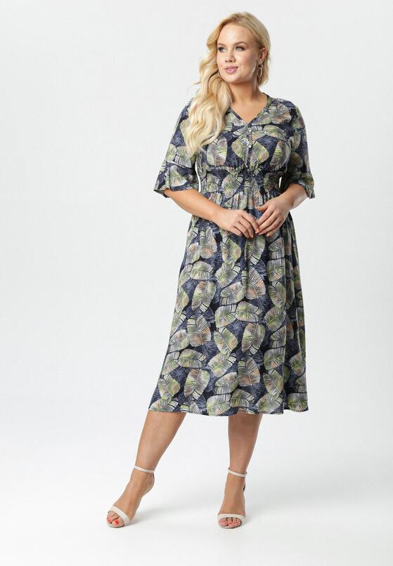 Granatowa Sukienka Kleoriko