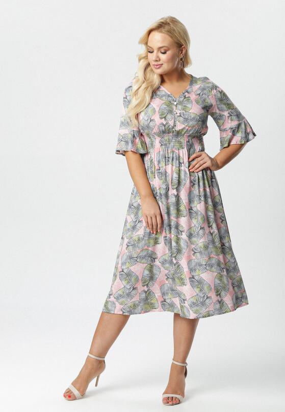 Jasnoróżowa Sukienka Kleoriko