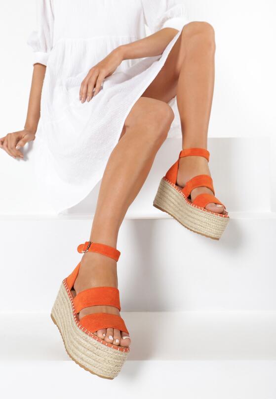 Pomarańczowe Sandały Avarith