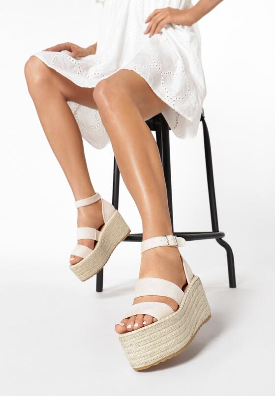 Beżowe Sandały Avarith