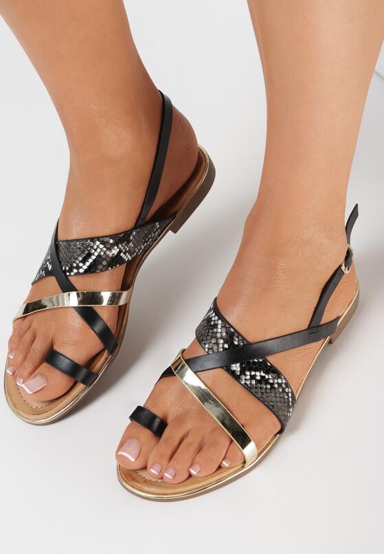 Czarne Sandały Physatai