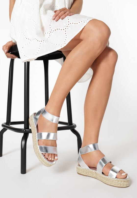 Srebrne Sandały Ilapise