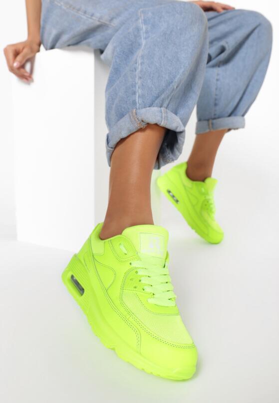 Limonkowe Buty Sportowe Nillda
