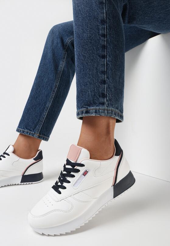Biało Różowe Buty Sportowe Neanara