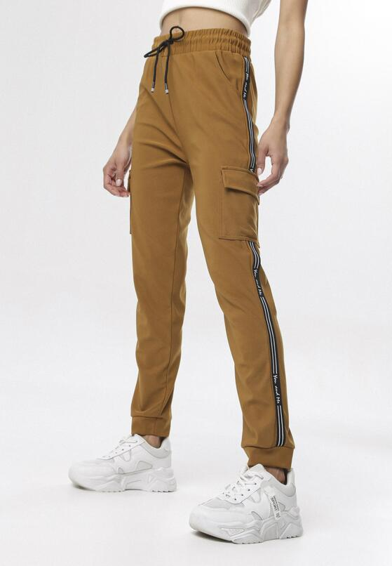 Camelowe Spodnie Dresowe Aniphaia