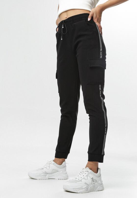 Czarne Spodnie Dresowe Aniphaia