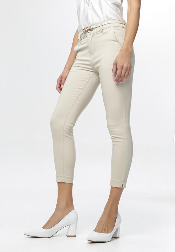 Jasnobeżowe Spodnie Fontalura