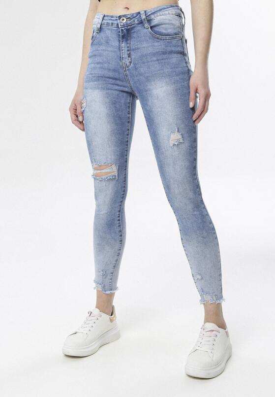 Niebieskie Jeansy Skinny Echithyia