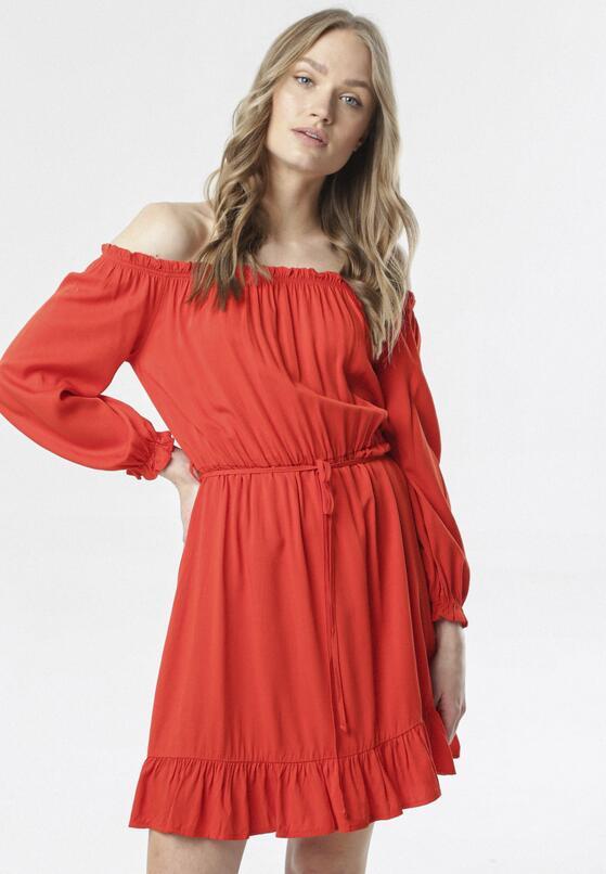 Czerwona Sukienka Menikea