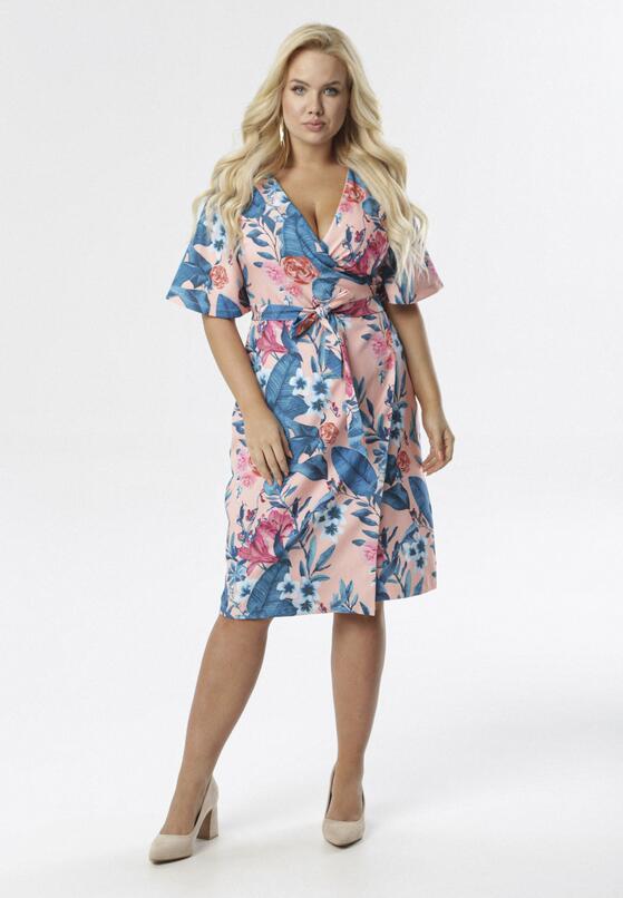 Różowo-Niebieska Sukienka Laomerose