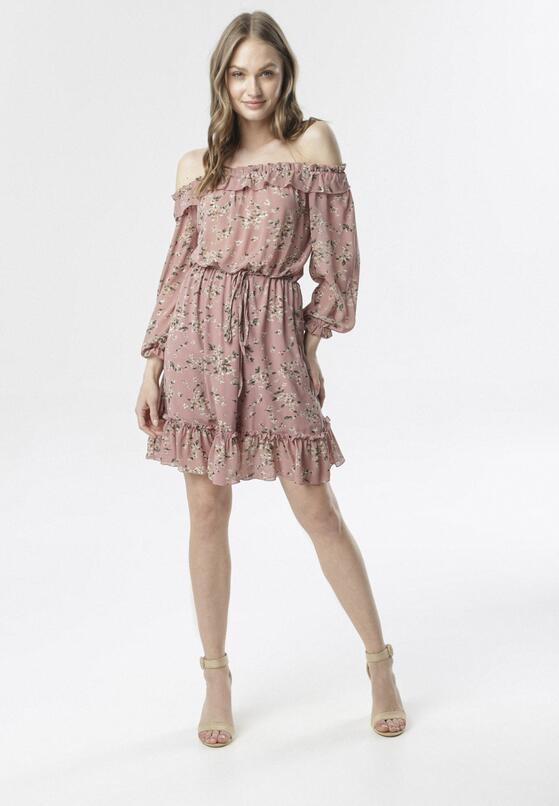 Różowa Sukienka Corraelena