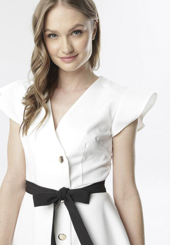Biała Sukienka Doririye