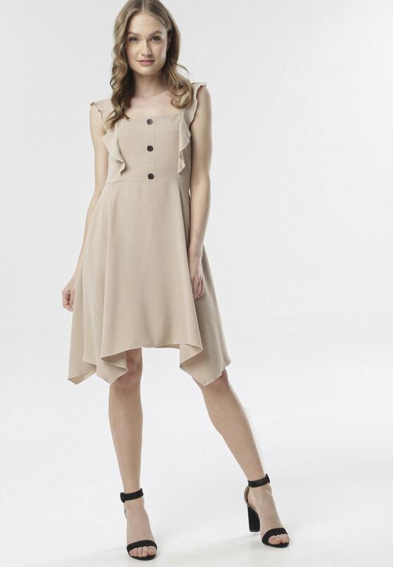Beżowa Sukienka Callala