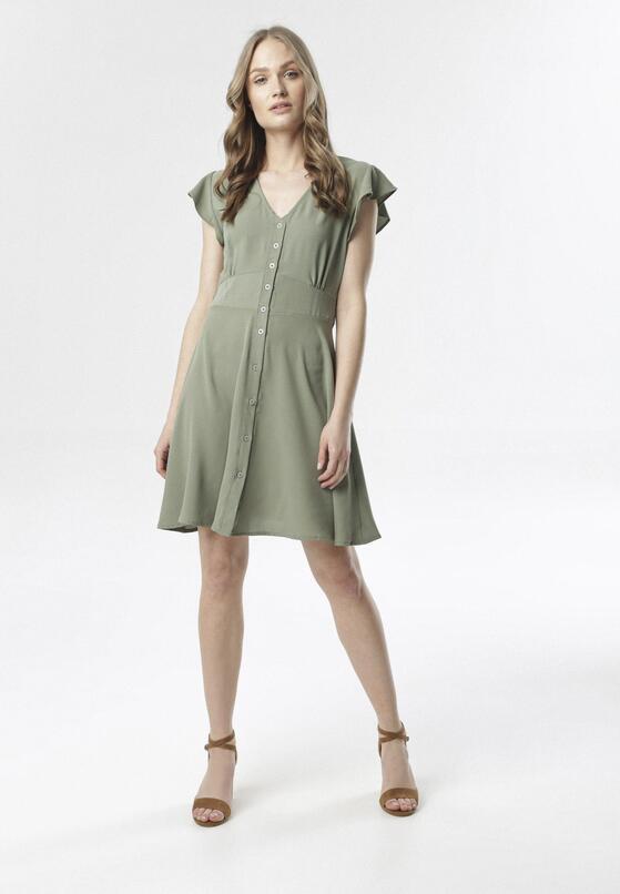 Ciemnozielona Sukienka Corearia