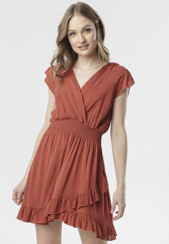 Brązowa Sukienka Aethethea