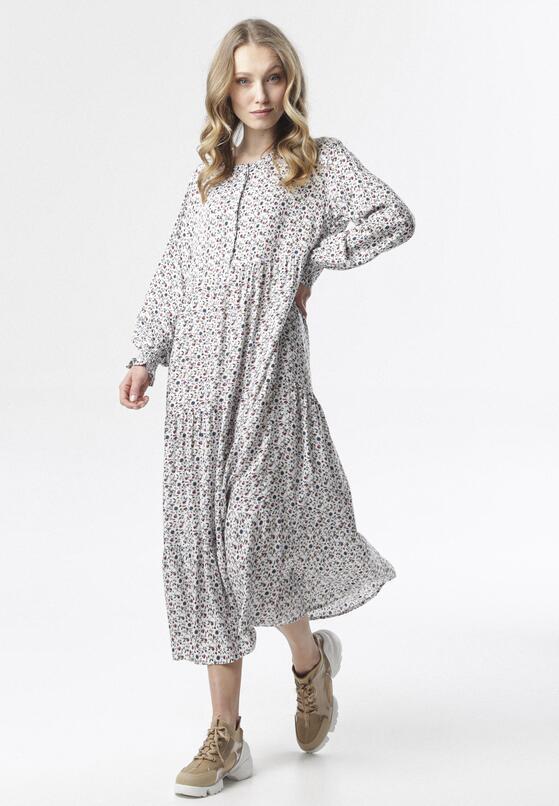 Biała Sukienka Mysxiope