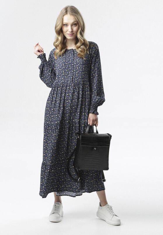 Granatowa Sukienka Mysxiope
