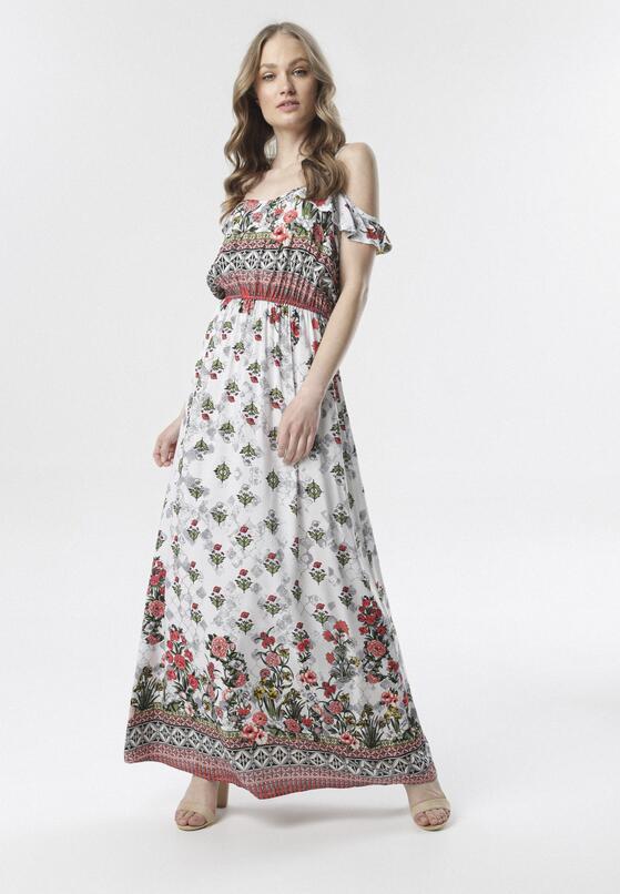 Biała Sukienka Aerethia