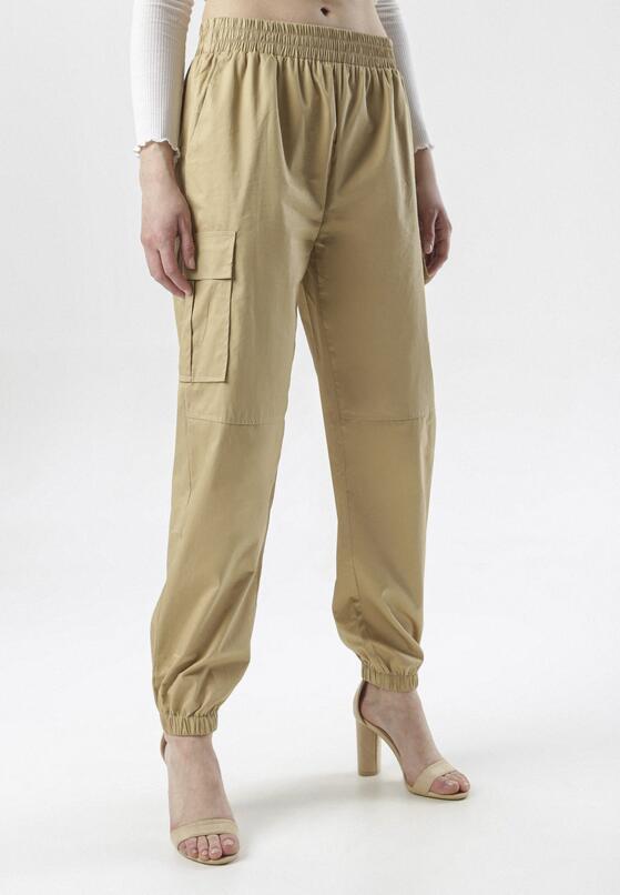 Beżowe Spodnie Cargo Tharena