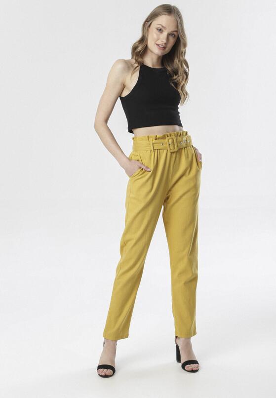 Żółte Spodnie Paper Bag Epheteia
