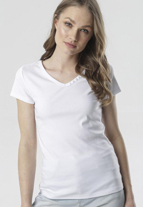 Biały T-shirt Melimine