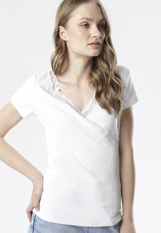 Biały T-shirt Allulei